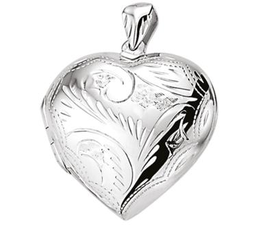 Hartvormig medaillon gravé