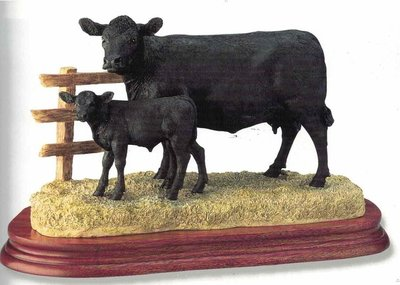Aberdeen Angus Cow & Calf - limited editon of 1250