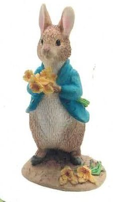 Peter Rabbit with daffodils