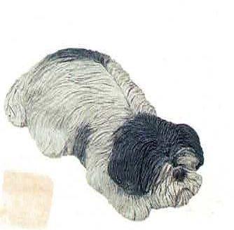 Puppy Black White Napper