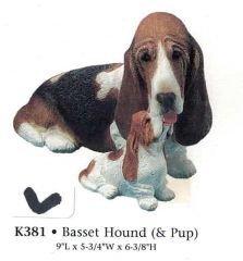 Basset Hound (& Pup)