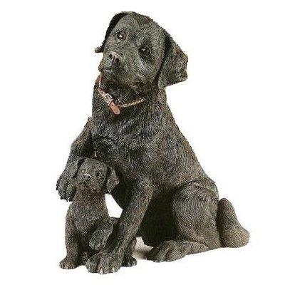 Black Labrador with Puppy