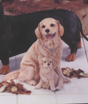 Golden Labrador with Puppy