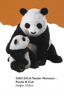 Tender Moment - Giant Panda & Cub