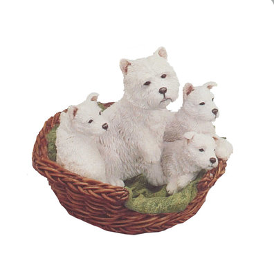 Westie Family in Basket