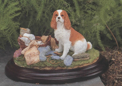 Cavalier King Charles Spaniel with Washing Line