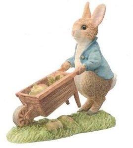 Peter Rabbit in Wheelbarrow