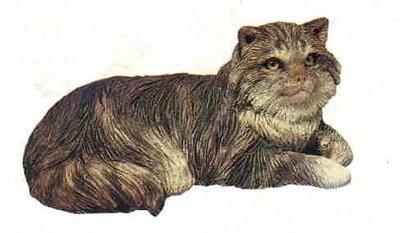 Cat longhair gray (laying)