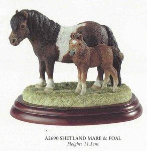 shetland mare & foal